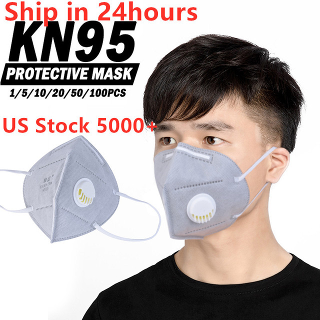100pcs KN95 5 Layers Mask Antivirus Flu Anti Infection N95 Masks Particle Respirator PM 2.5 Protective Safety Same as KF94 FFP3