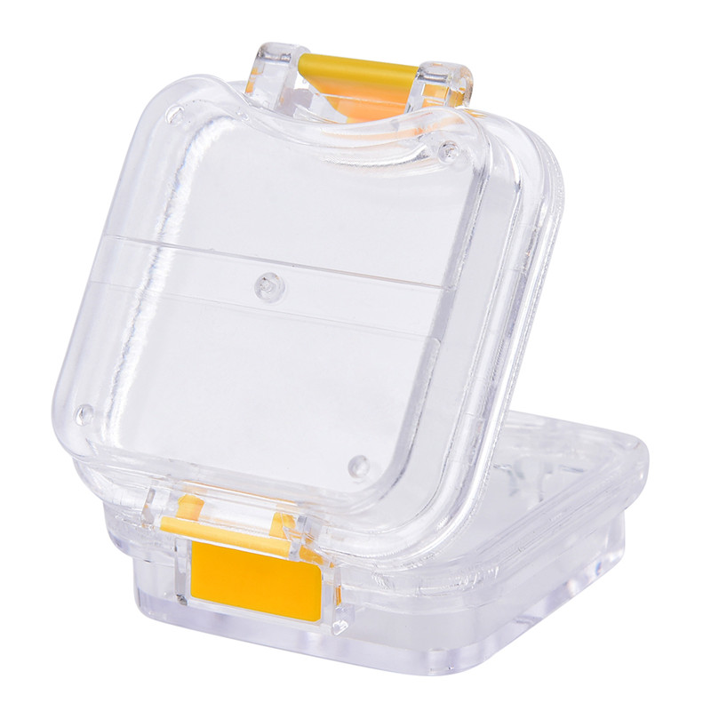 Storage Box With Hanging Net Container Artificial Tooth Organizer Transparent Tooth Box Denture Bath Box Case Dental False Teeth 3