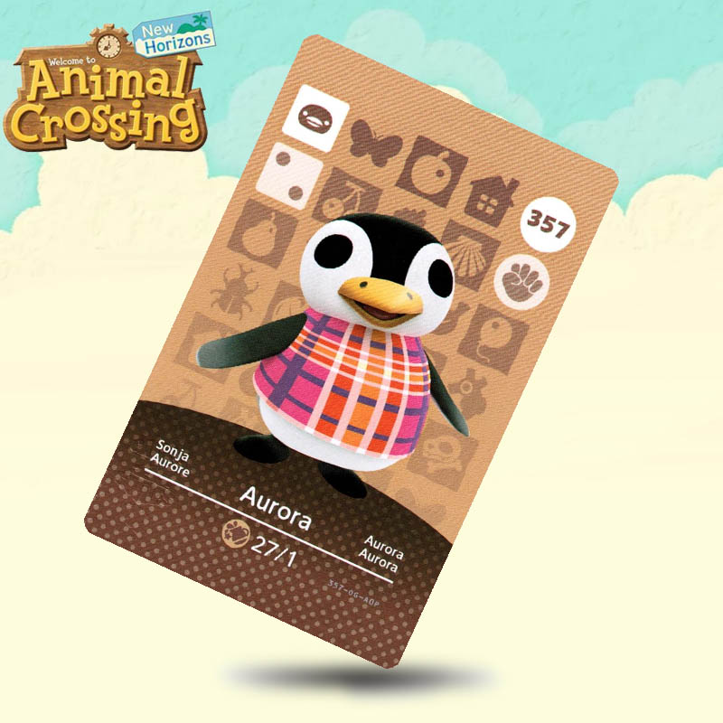 357 Aurora Animal Crossing Card Amiibo Cards Work For Switch NS 3DS Games