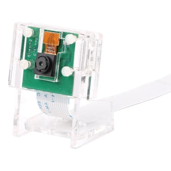 5MP Camera Module Webcam Video 1080P+Transparent Holder for Raspberry Pi 4/3B +/ 3B/2B/Zero