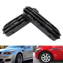 2 Pcs M5 Side Fender Air Flow Vents Grille Grill For-BMW E60/E61 E39 M5 Glossy Black(China)