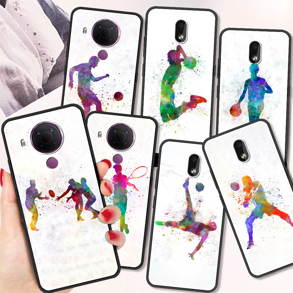 Baseball Football Tennis Sports Luxury Silicone Cover For Nokia 2.2 2.3 3.2 4.2 7.2 1.3 5.3 8.3 5G 2.4 3.4 C3 1.4 5.4