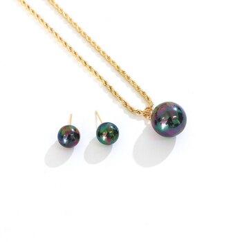 Say Hello Polynesian Hawaiano Samoa Estilo Vintage perlas brillantes colgante collar Stud...