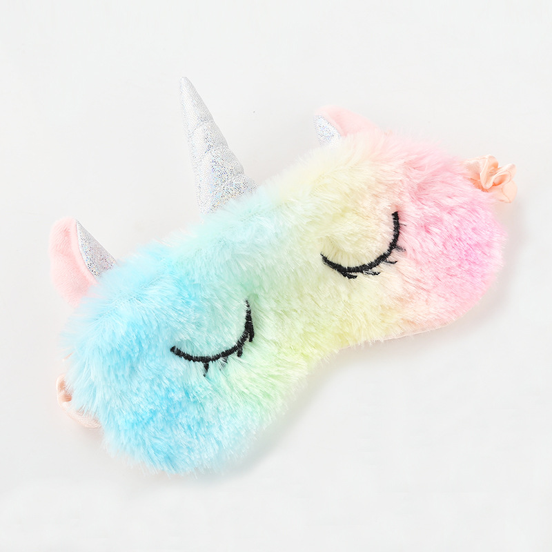 Kids Sleep Mask Unicorn Sleeping Eye Mask Plush Sleep Eye Cover Sleeping Mask Eyepatch Travel Eye Band Shade Rest Eye Blindfold