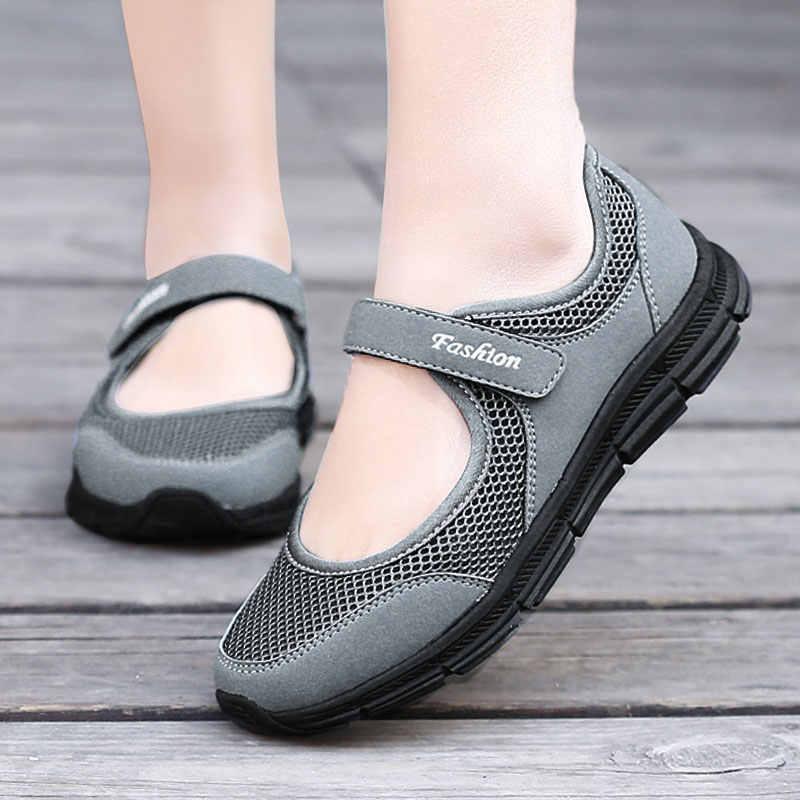 Fshion Sneakers Nữ Mùa Hè Giày Nữ Huấn Luyện Viên Giày Vulcanize Nữ Giày Đế Người Phụ Nữ Chaussure Femme Mujer