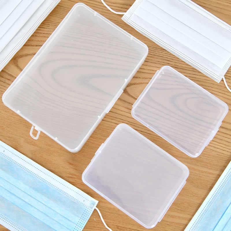 Estuche portátil para mascarilla desechable, a prueba de polvo, contenedor para mascarillas, anti-contaminación mascarilla desechable, caja organizadora