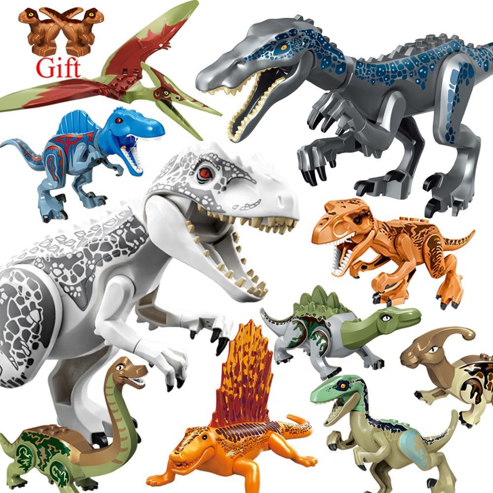 Lockings Jurassic dinosaures parc mondial dinosaure Raptor zone de protection Legoing animaux blocs de construction ensemble enfants jouet