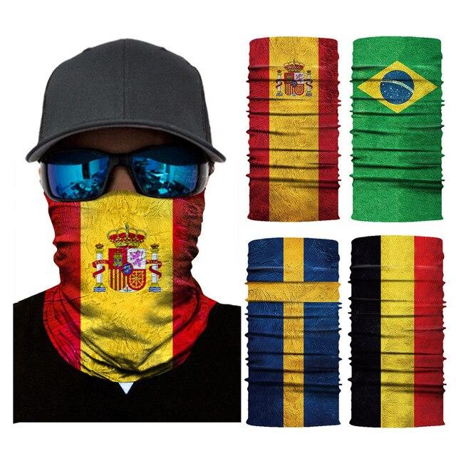 Seamless Balaclava National Flag Bandanas Face Mesh Shield 1