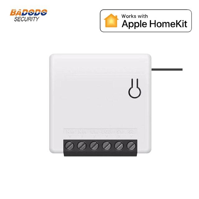 Module de commutateur de relais intelligent bidirectionnel Compatible avec Apple HomeKit pour le contrôle de la lumière à la maison
