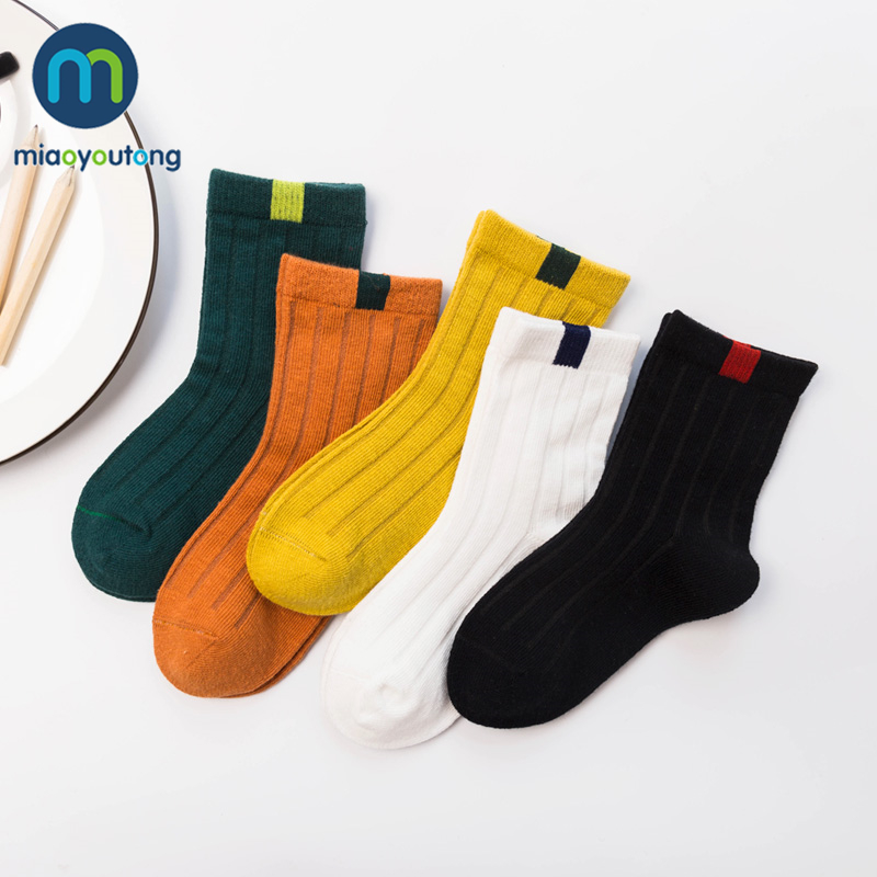 5 Pair High Quality Stripe Cotton Infant Baby Girl Socks Newborn Baby Boy Socks Kids New Born Cheap Stuff Miaoyoutong