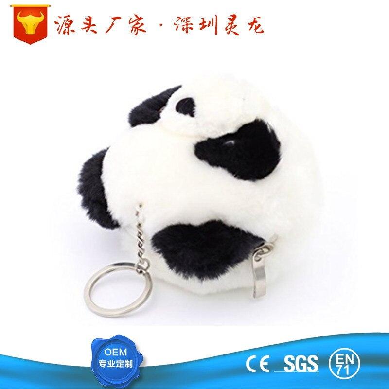Cartoon Fabric Panda Zip Coin Purse Mini Size Plush Panda Wallet Coin Bag
