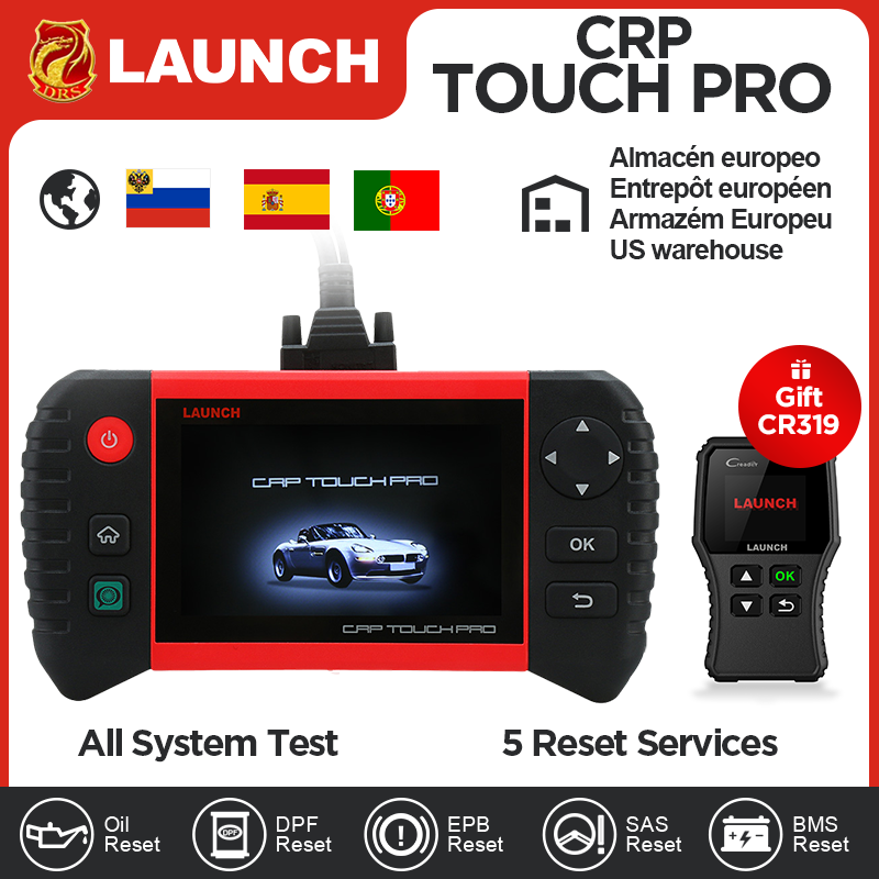 LAUNCH Creader CRP Touch Pro Full OBDII All System Scanner WiFi Diagnostic Scan Tool SAS EPB BMS DPF Oil reset Automotive Tool