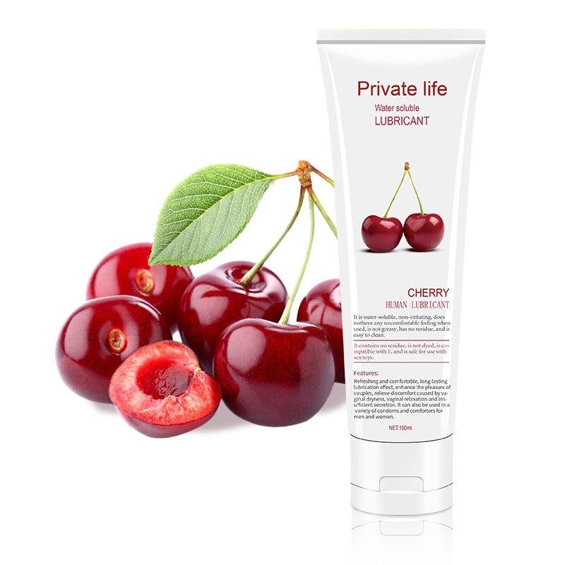 Seks yağlayıcı 100ml su bazlı limon/çilek/kiraz meyve lezzet seks yağı vajinal ve Anal jel yetişkin seks ürün oral