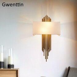Nowoczesny ze złota kinkiet kinkiet Led lampki lustrzane do salonu lampka do sypialni oświetlenie przemysłowe oprawy Loft Decor oprawa