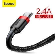 Câble de données USB de Charge rapide de câble Micro d'usb de Baseus 2.4A pour le téléphone portable Android cordon de Charge d'usb pour Samsung Xiaomi Huawei