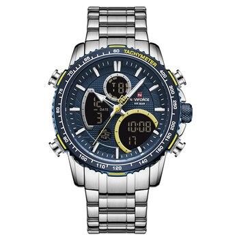 NAVIFORCE Men Watch Top Luxury Brand Big Dial Sport Watches Mens Chronograph Quartz Wristwatch Date Male Clock Relogio Masculino 7