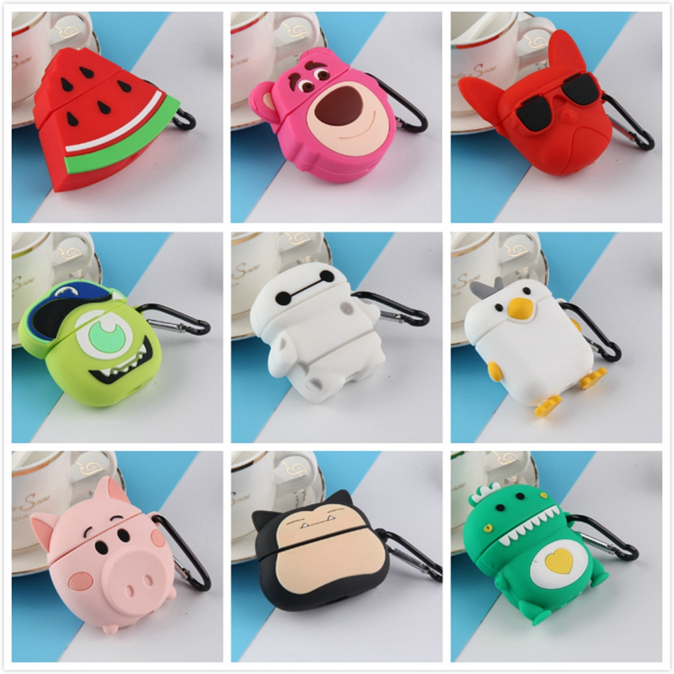 Earphone Case For Airpods Case Silicone Cute Dog Cartoon Headphone Covers For Apple Air Pods 2 Case Earpods Earbuds Accessories
