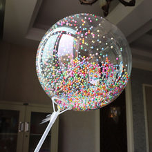 One Giant Transparent Balloon Colorful Bubble Balloon Birthday Party Wedding Decoration Balloon Anniversary BoBo Balloon