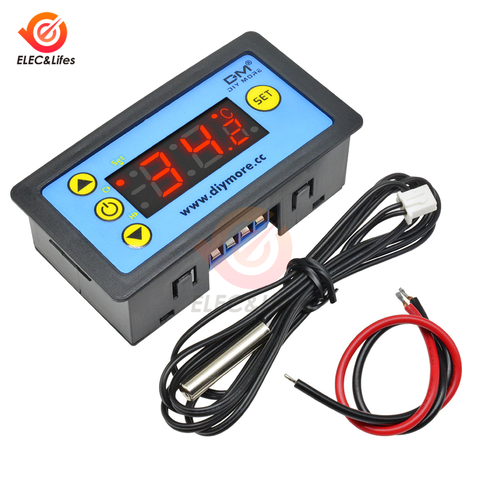 W3231 12V 24V 220V Digital Thermostat Regulator For Refrigerator Indoor Microcomputer Temperature Controller Freezer NTC Sensor