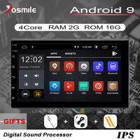 2 din Android 9.0 Car Radio Head Unit For Nissan Xtrail Note Qashqai Almera Universal Multimedia Audio GPS Navigation Stereo 2GB
