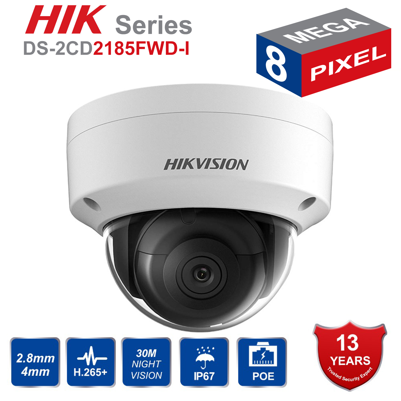 Hik Original Englisch DS-2CD2185FWD-I 8MP Outdoor Dome ip Kamera H.265 Aktualisierbar CCTV Kamera Interface sicherheits kamera 2,8mm