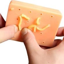 Забавные игрушки для взрослых сжимания акне детей желтая гусеница