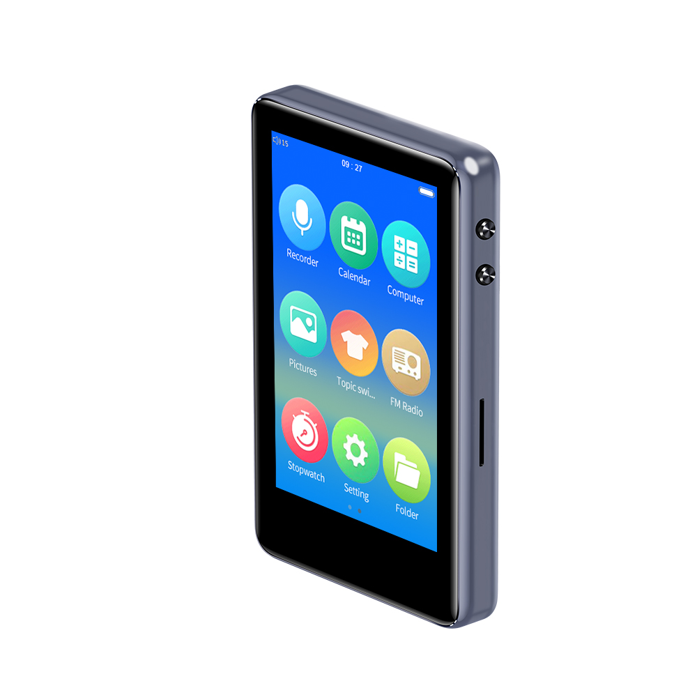 Bluetooth 5.0 Metal <font><b>mp3</b></font> <font><b>player</b></font> 3.0 inch full touch screen built-in speaker with e-book FM radio voice recorder video playback image