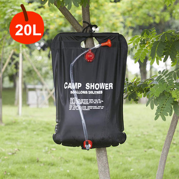 Camping Shower Bag 5 Gallon/20L Solar Heating Bag Portable Washer Water Storage Bathing Bag for Car Outdoor Hiking Picnic