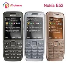 オリジナルノキア E52 2 グラム 3 グラムロック解除携帯電話 3MP 改装携帯電話 & ヘブライ語、アラビア語英語ロシアキーボード