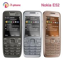 원래 노키아 E52 2G 3G 잠금 해제 휴대 전화 3MP 단장 한 핸드폰 & 히브리어 아랍어 영어 러시아어 키보드
