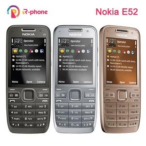 Image 1 - Оригинальный Nokia E52 2G 3G разблокированный мобильный телефон 3MP отремонтированный мобильный телефон и иврит Арабский Английский Русский Клавиатура