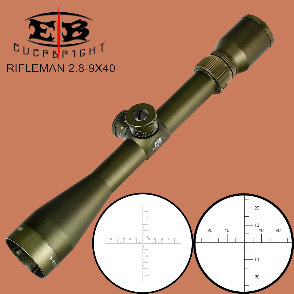 EB RIFLEMAN 2.8-9X40 FFP Hunting Riflescope First Focal Plane Glass Etched Reticle Tactical Optical Sights Turrets Lock Reset