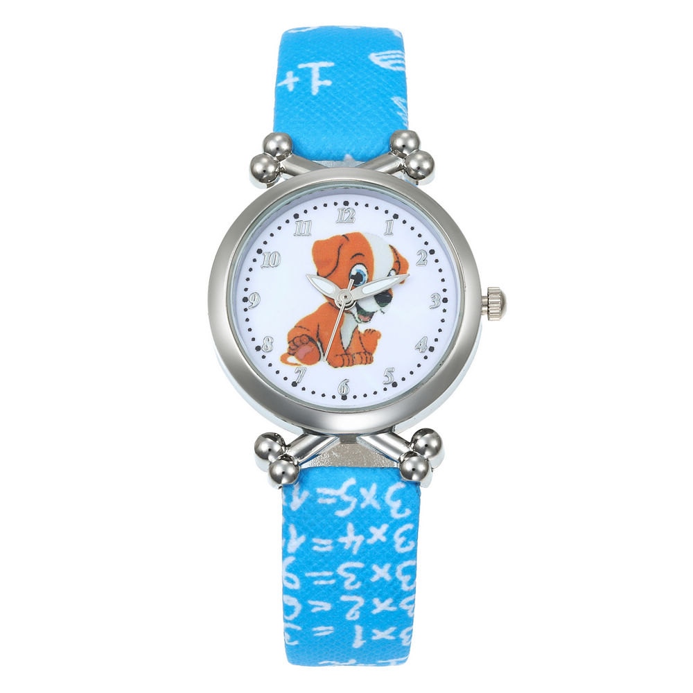 New Fashion Cute Girls Brown Dog Design Children Watch Quartz Jelly Kids Clock Boys Student Wristwatches Relogio Kol Saati Clock
