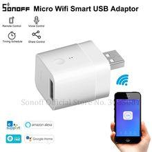 SONOFF מיקרו 5V אלחוטי USB חכם מתאם Wifi מיני USB כוח מתאם מתג עובד eWeLink APP Alexa Google בית לבית חכם