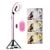 14inch 5500K LED Selfie Ring Light Dimmable LED Ring Lamp Photo Video Camera Phone Light Ringlight For Live YouTube Fill Light
