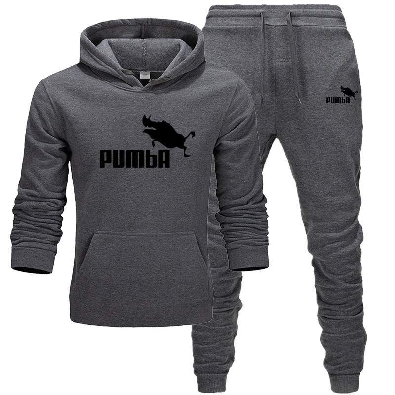 Men Clothing Set Sportswear 2019 Autumn New Hoodies Sweatshirts Sporting Sets Men's Tracksuits Two Piece Hoodies+Pants 2pcs Sets