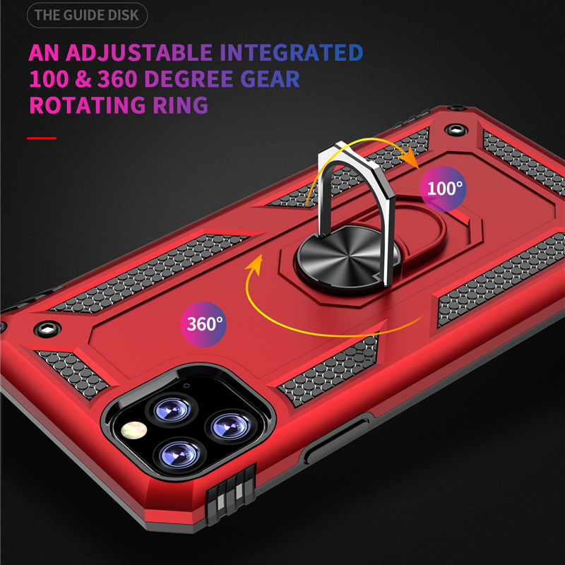 Luxury Magnetic Car Case for Coque iPhone 11 Pro 2019 iPhone XR X Xs Max Shockproof Metal Ring Case iPhone 7 8 6 6S Plus Funda in Fitted Cases from Cellphones Telecommunications