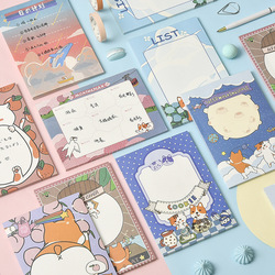 Mohamm 50Pcs  Cute Cartoon Decoration Paper Sticky Notes Creative Scrapbooking Stationary School Supplies