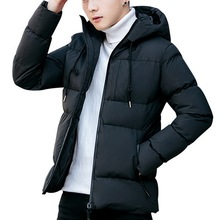 MoneRffi Winter Coat Men Parkas Para Hombre Korean Quilted Jacket Hooded Plus Size Slim Fit Solid Warm Outwear Hooded Male Coat plus size asymmetrical hooded coat