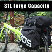 37L 3 in 1 Trunk Bicycle Bags Large Capacity Waterproof Cycling Bag Mountain Road  Carrier Accessories