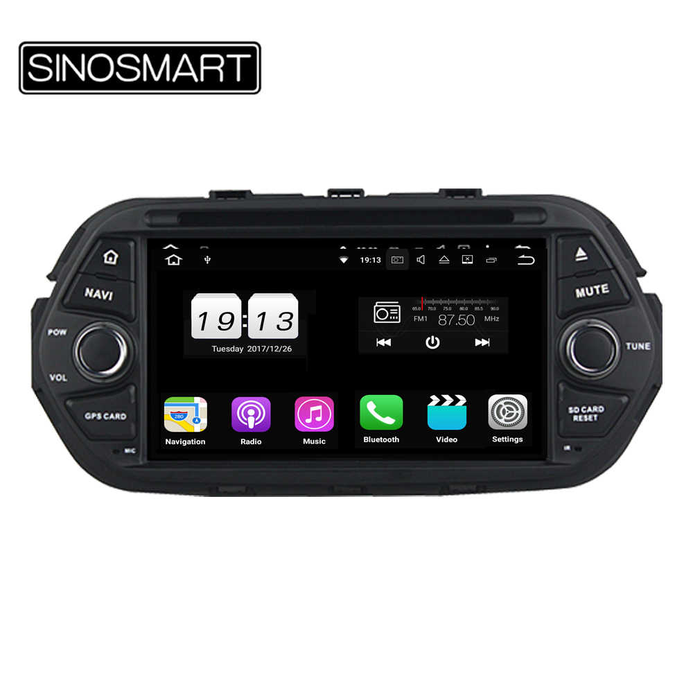Sinosmart 4/8 Core 2G/4G Ram Android 8.1/8.0 Mobil Dvd GPS Navigasi untuk Fiat Egea 2016 dengan CANBUS