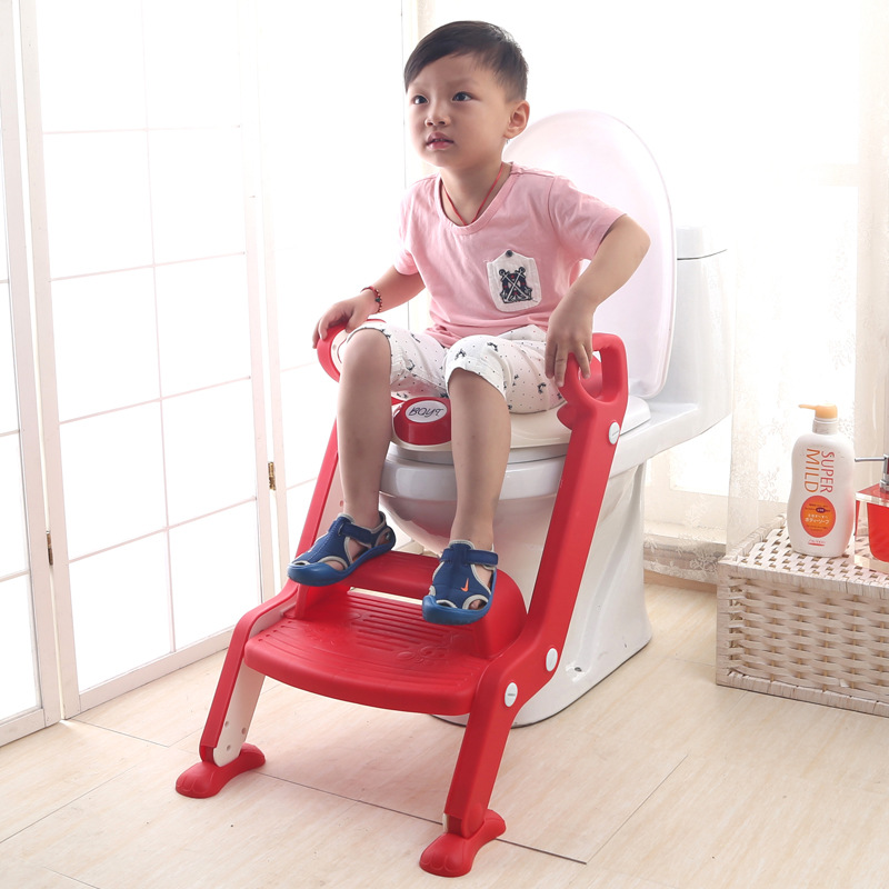 Folding CHILDREN'S Toilet Step-wise Auxiliary Toilet Chair Chamber Pot Rack Chamber Pot Ladder Hole-Cleaning Sit Baby Will Ladde