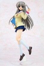 Clannad Sakagami Tomoyo figurka wspaniałe życie japonia Anime seksowna dziewczyna mundurek szkolny Ver PVC 25cm kolekcja modeli prezent zabawka