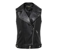 Free shipping, plus size Genuine sheep women vest.motorbiker woman loose vests,sleeveless leather jacket