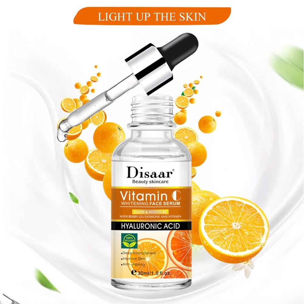 Vitamin C Facial Serum Anti Wrinkle Aging Essence Skin Whitening Freckle Creams Moisturizing Face Care Hyaluronic Acid Cream 3