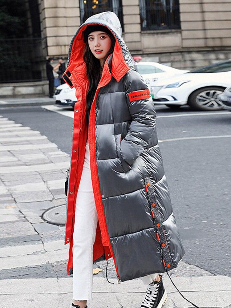 Новинка, женские куртки, зима 2020, женские парки, корейские пуховые теплые пальто из хлопка, длинная куртка для женщин, элегантная пуховая куртка|Парки| | АлиЭкспресс