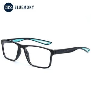 Image 4 - Bluemoky スポーツメガネフレーム男性のための光学近視眼鏡メガネ透明クリアメガネ男性眼鏡 2020