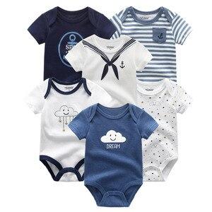 Image 2 - 6 개/몫 Uniesx 여름 신생아 아기 Rompers 100% 코 튼 베이비 의류 세트 Roupas de bebe 아기 소년 소녀 옷