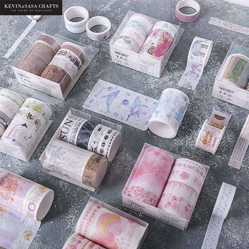 7Pcs/Set Printing Washi Tape Quality School Supplies Stationery Gift Back To School Presented By Kevin&Sasa Crafts