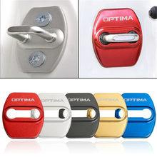 Car Styling Auto Door Lock Cover Car Sticker Case For KIA Optima 2014 2018 2019 Car Accessories